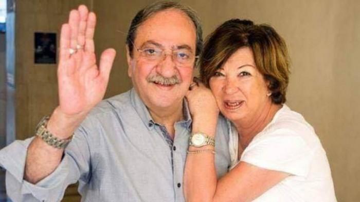 دريد لحام وزوجته