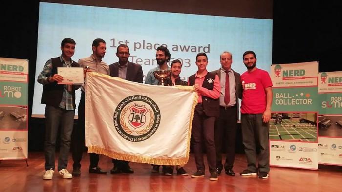 فريق نادي الروبوت في إتحاد بلديات قضاء بنت جبيل