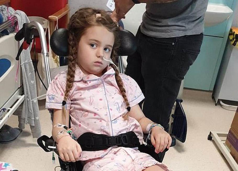 يا صور:: صدفة سقوط الطفلة أنابيل (7 سنوات) من السرير كشفت ...
